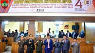 Permalink ke Bupati Bersama Wabup Dan Didampingi Dandim 0406/MLM, Mendengarkan Pidato Kenegaran Di Gedung Paripurna DPRD Mura
