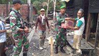 Permalink ke Plh Danramil Ilung Bersama Anggota Pembersihan Dan Serahkan Bantuan Dilokasi Kebakaran